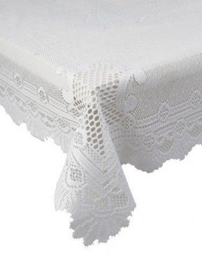 "MONICA WHITE PREMIUM LACE ROSE PATTERN TABLE CLOTH 36"" SQ £7.58 EA FREE POSTAGE"